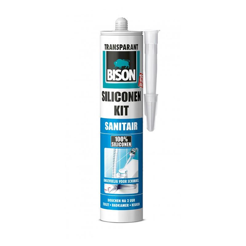 Bison Sanitair Siliconenkit Transparant 310 Ml Bison